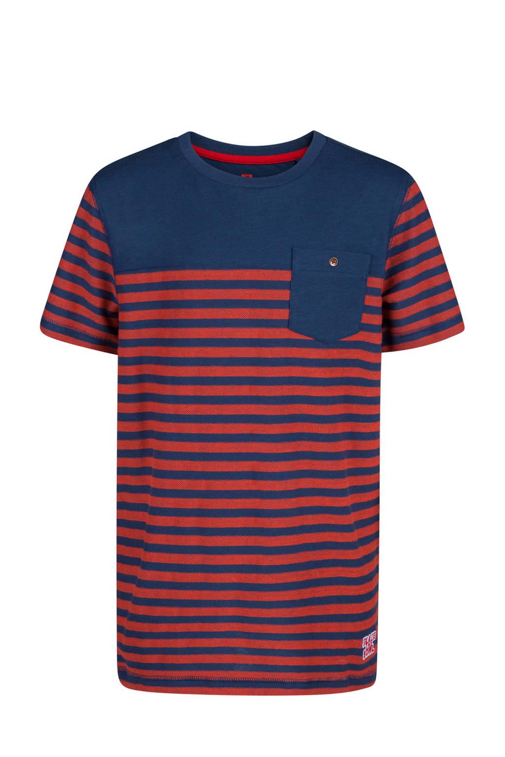 WE Fashion gestreept T-shirt rood/blauw, Rood/blauw