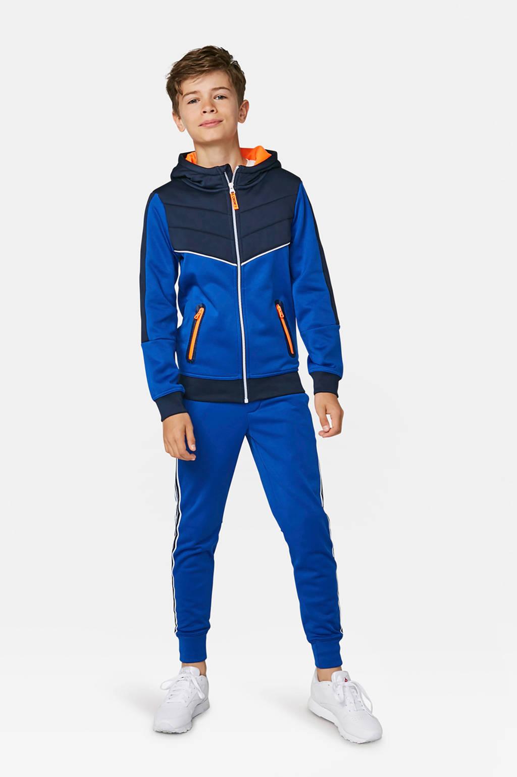WE Fashion vest met all over print blauw, Blauw