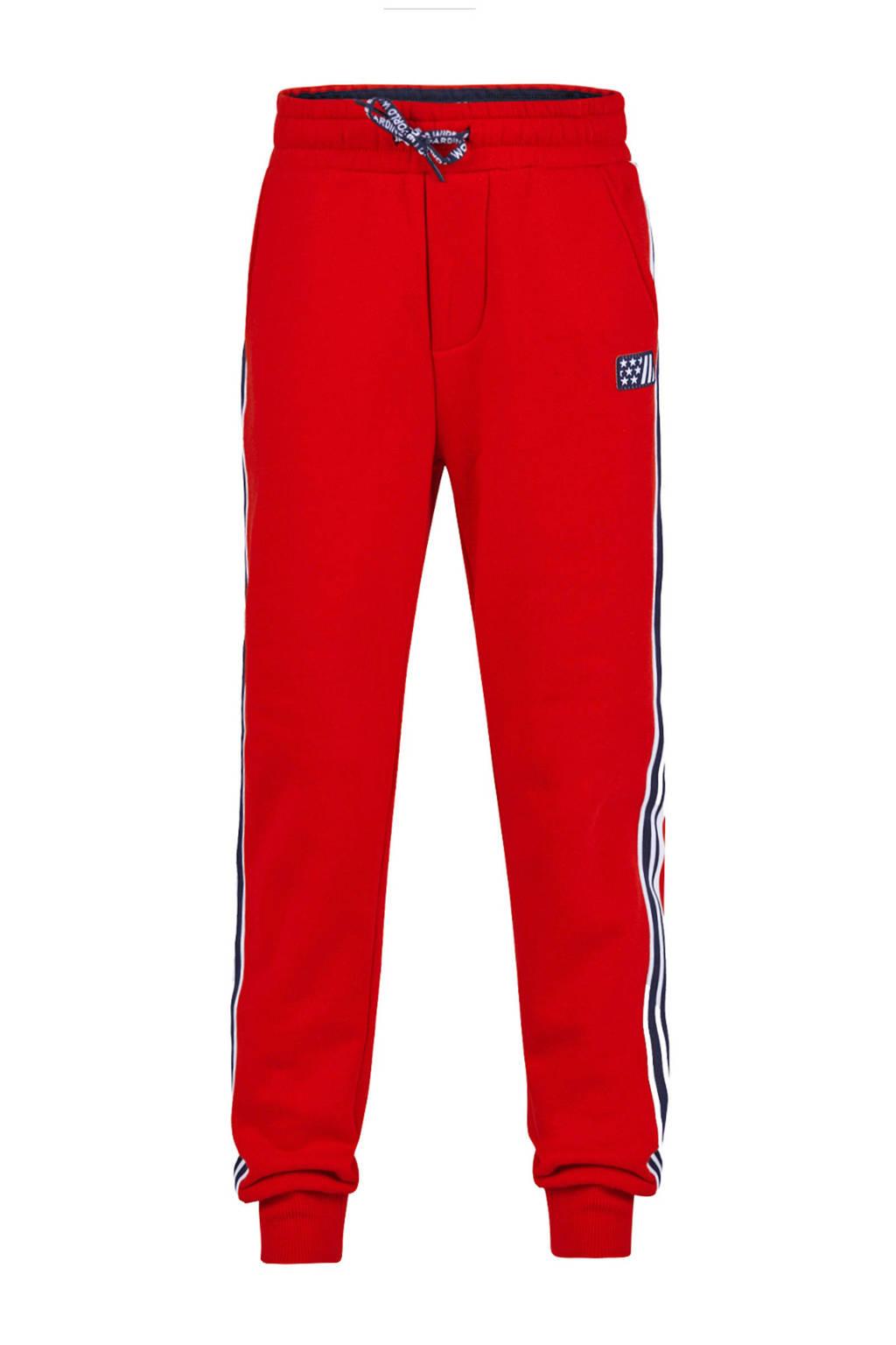 WE Fashion   regular fit joggingbroek rood, Rood