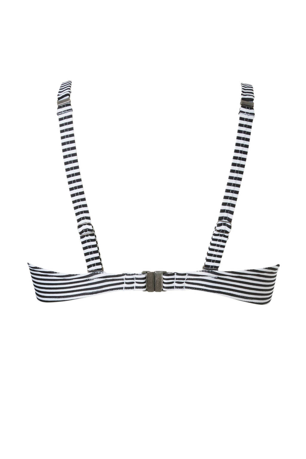 Veter Met Zwart Detail Bandeau Beachlifegestreepte Bikinitop 1xFqn7BzwU