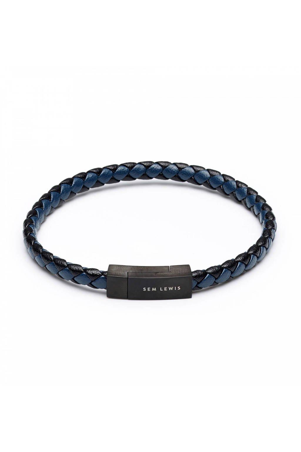 Sem Lewis armband SL210004, Blauw, zwart