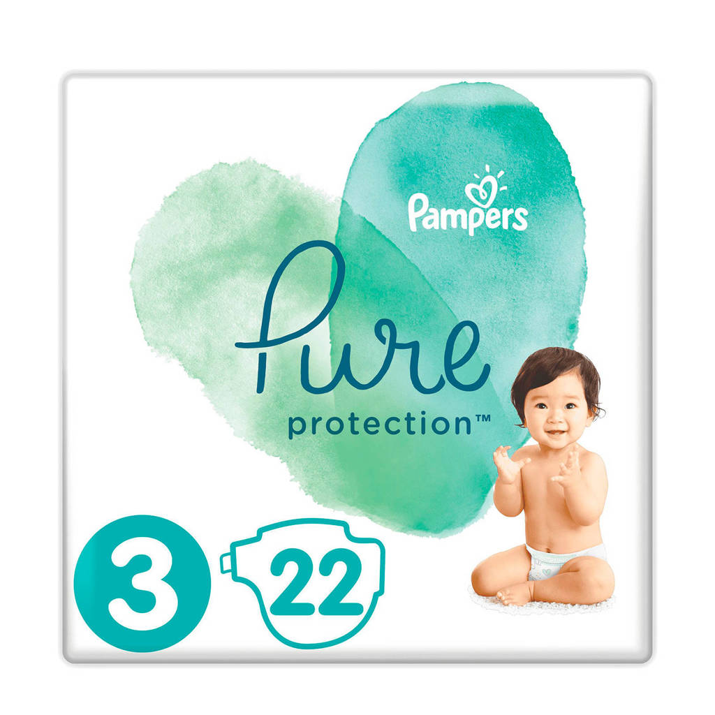 Pampers Pure Protection maat 3 (6-10 kg) 22 luiers