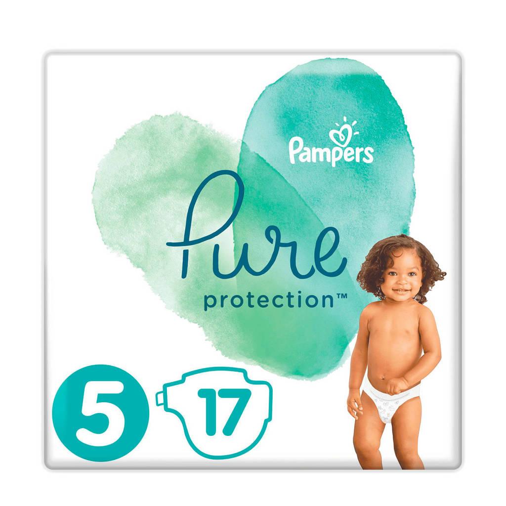Pampers Pure Protection maat 5 (11+ kg) 17 luiers, 5 (11-16 kg)