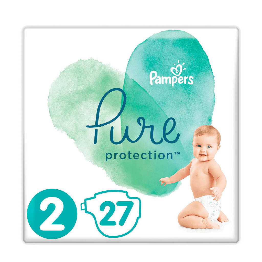 Pampers Pure Protection maat 2 (4-8 kg) 27 luiers