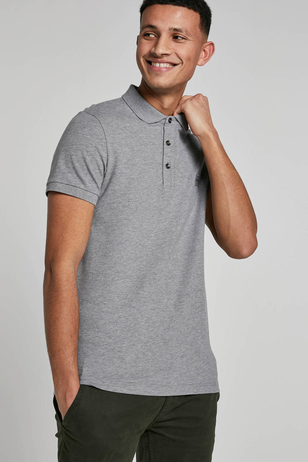 Boss Casual polo, Grijs