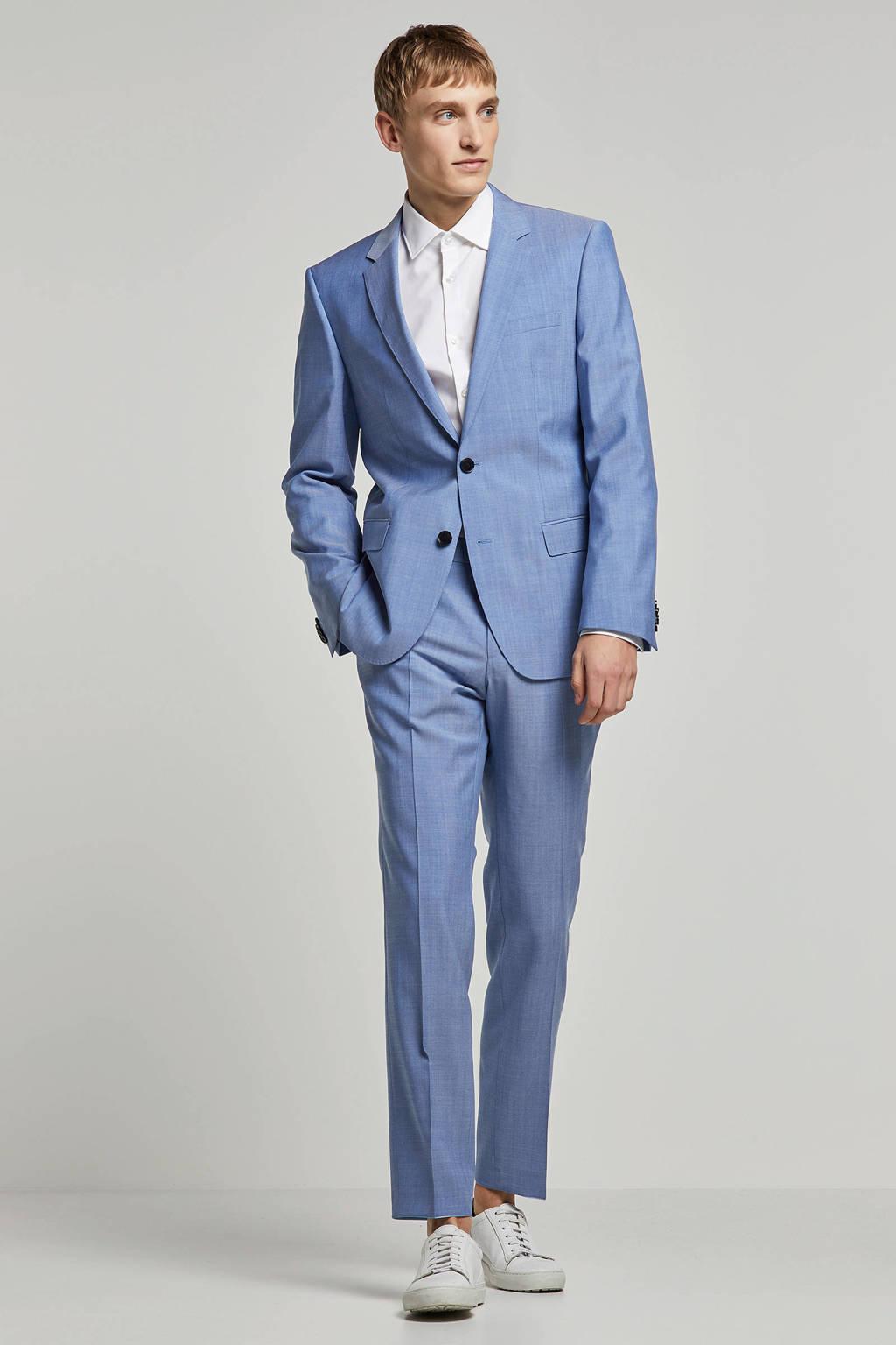 HUGO wollen regular fit kostuum blauw, Blauw