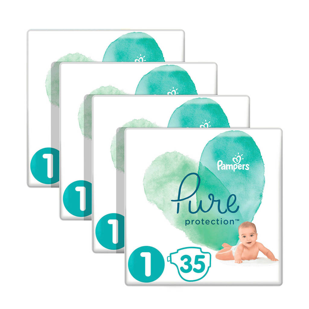 Pampers Pure Protection maat 1 (2-5 kg) 140 luiers