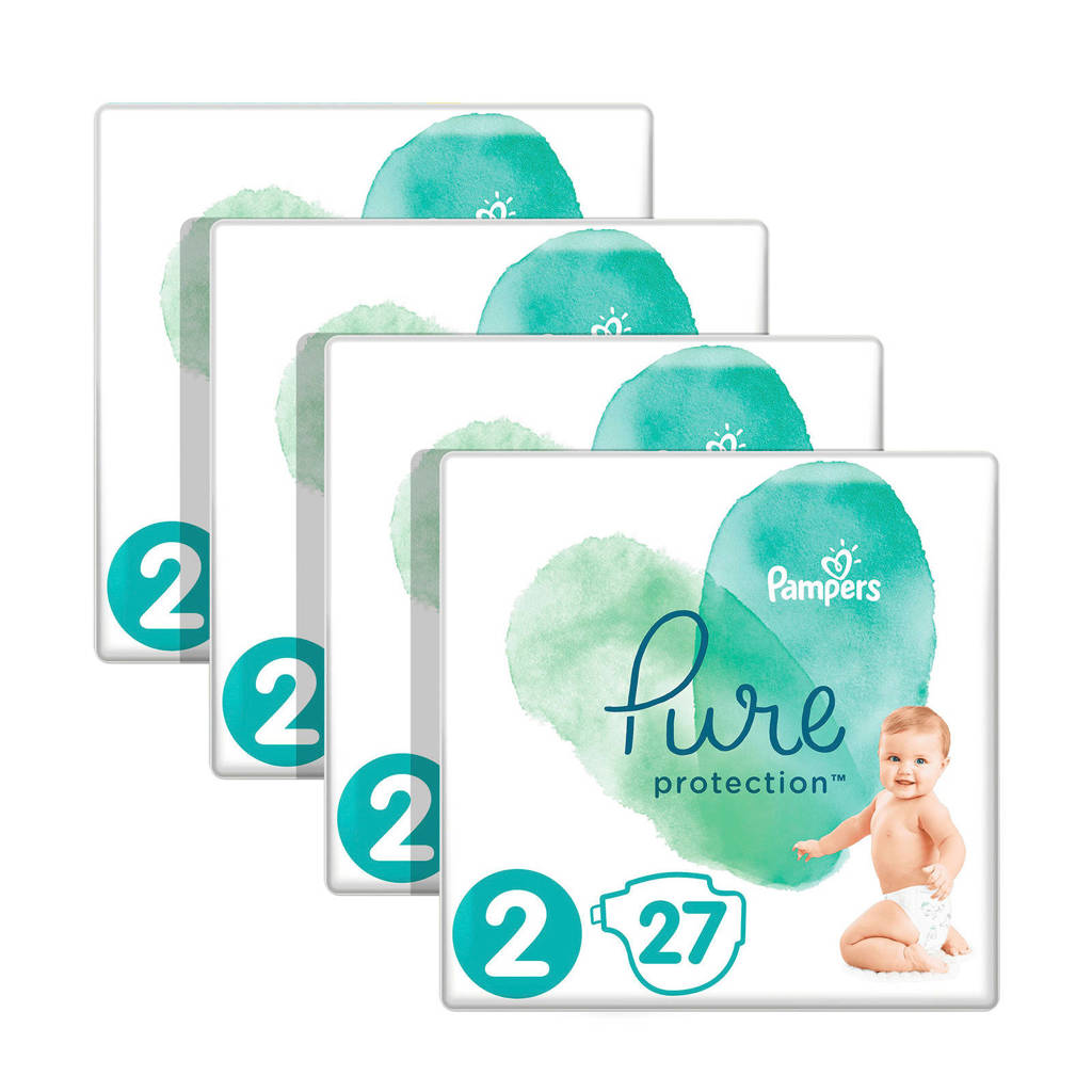 Pampers Pure Protection maat 2 (4-8 kg) 108 luiers