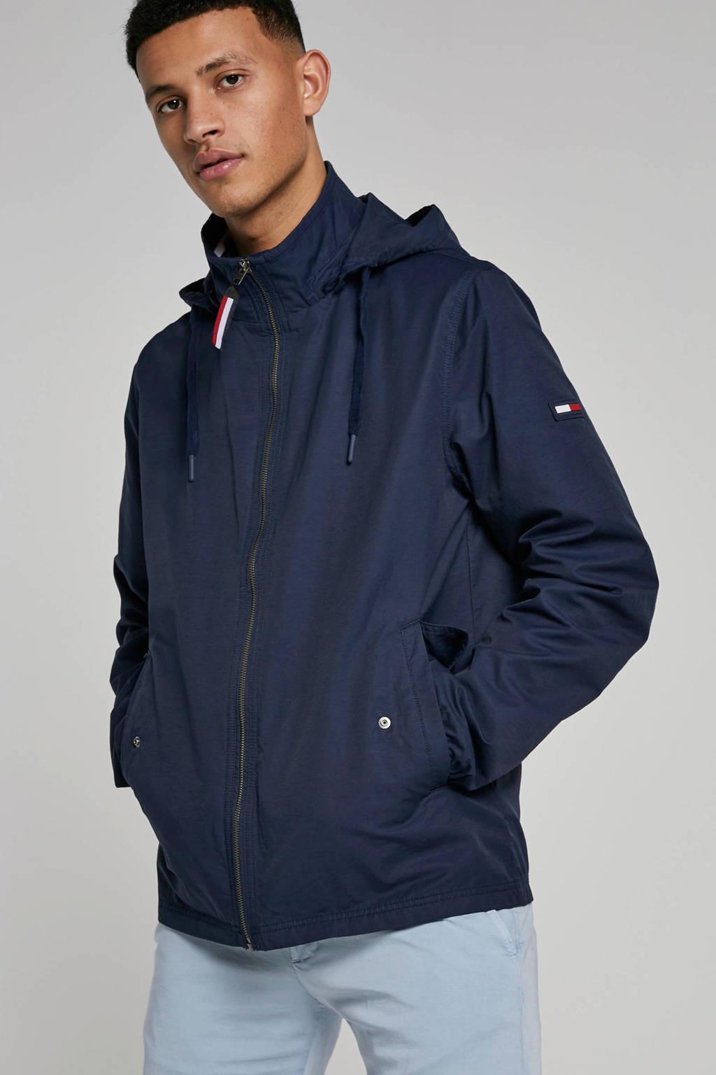 Tommy Hilfiger jas met capuchon donkerblauw, Donkerblauw