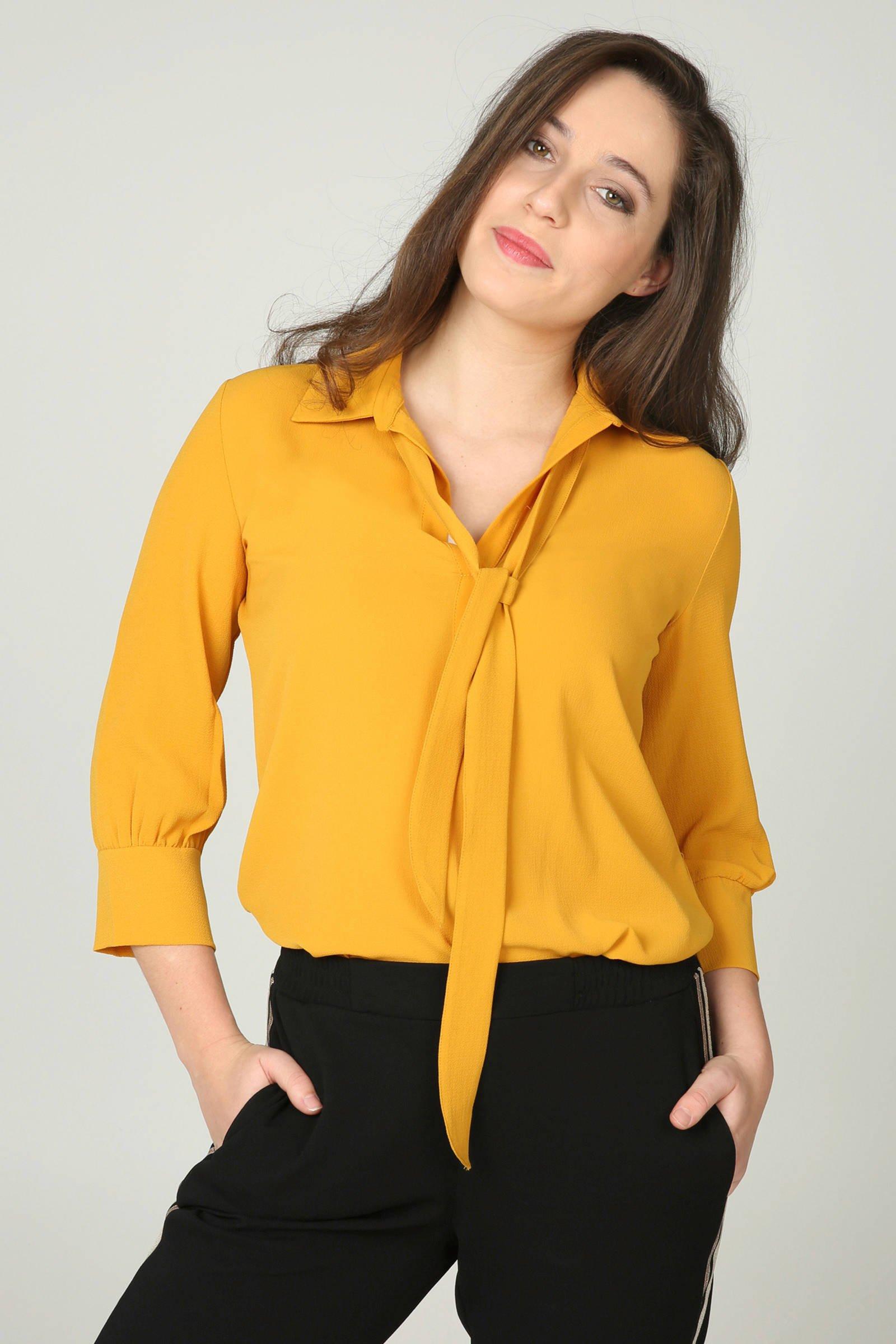 geel Cassis Cassis fijn blouse fijn geel geweven blouse geweven 8Oq4dwO