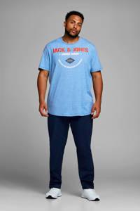 JACK & JONES PLUS SIZE T-shirt met printopdruk, Blauw