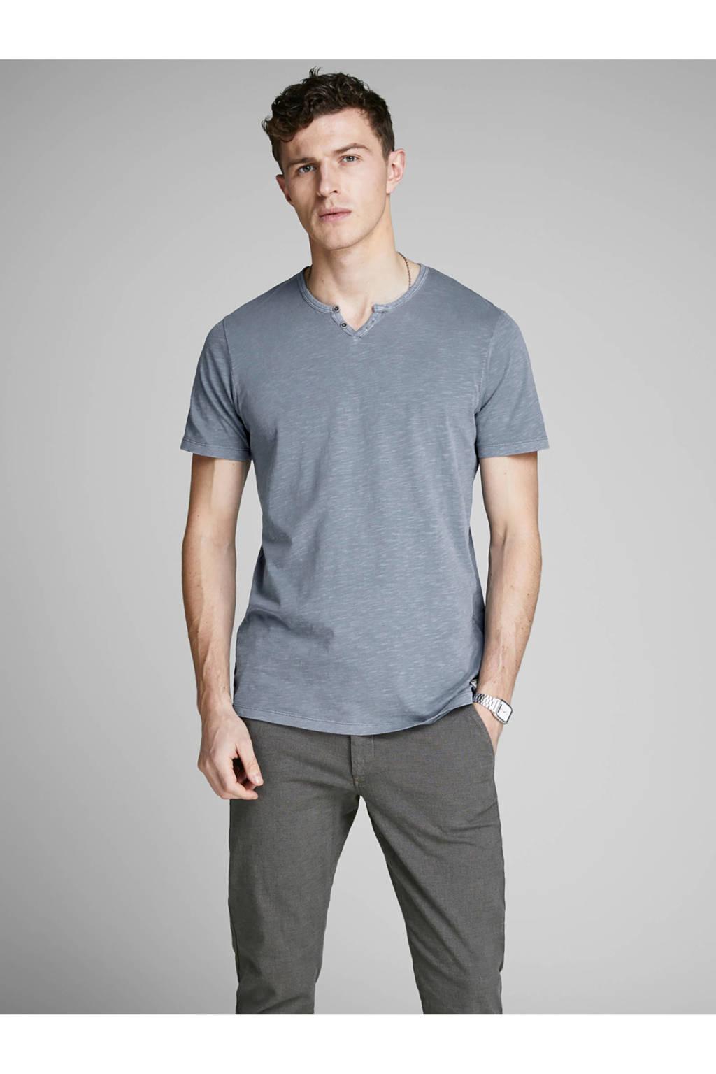 Jack & Jones Premium gemêleerd T-shirt blauw, Blauw