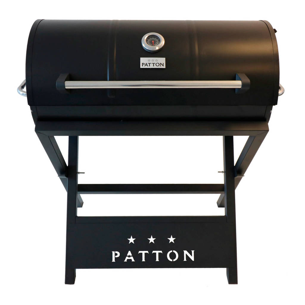 Patton  Barrel Chef XL barbecue, Zwart