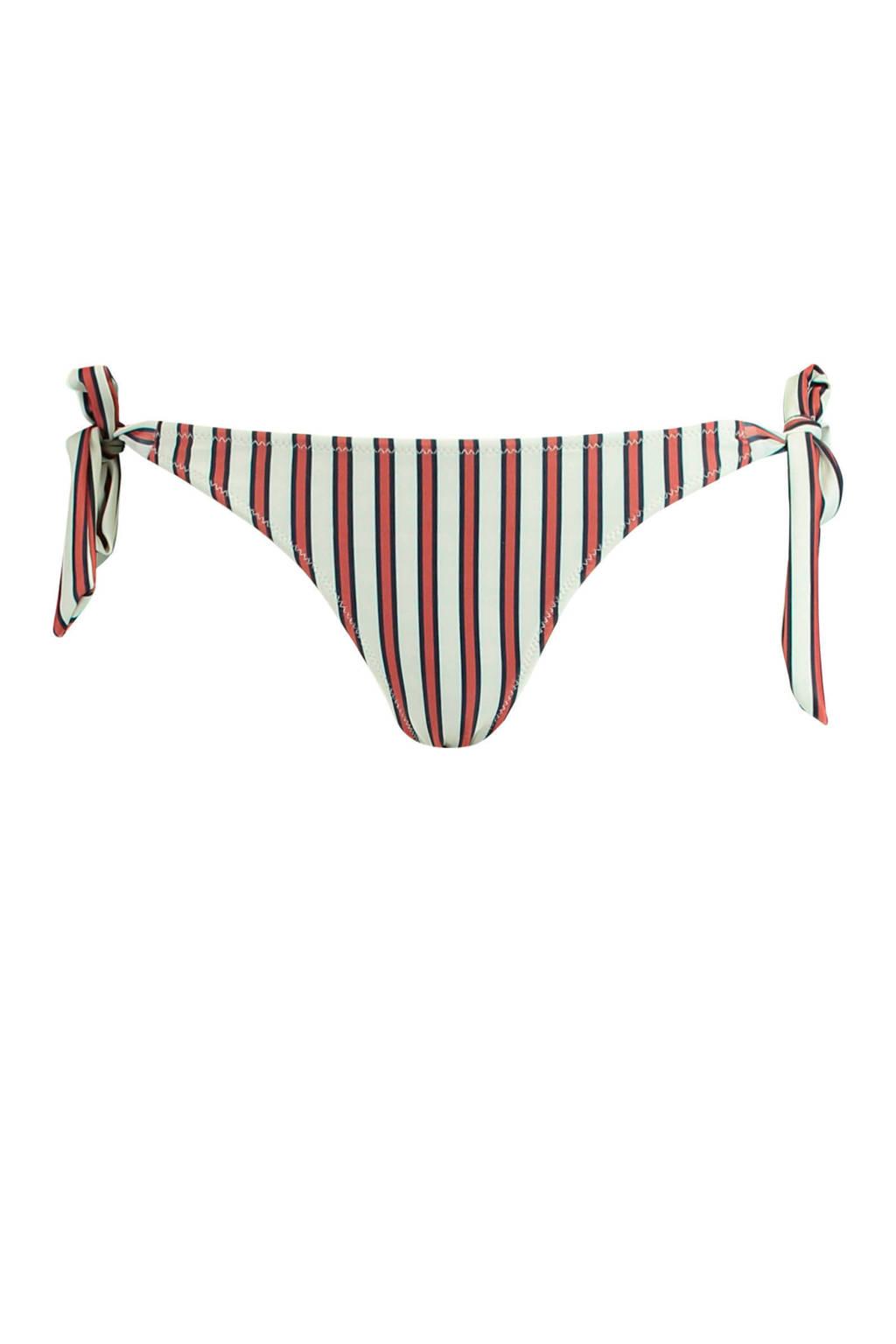 America Today strik bikinibroekje Alawa streep, Wit/rood