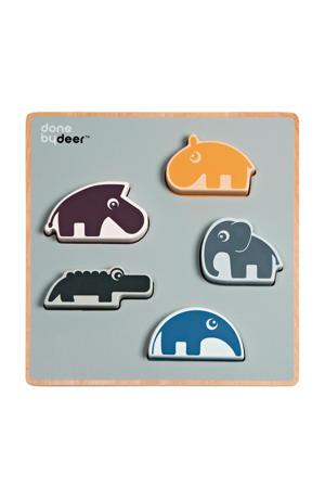 vormenpuzzel Deer friends houten vormenpuzzel 5 stukjes