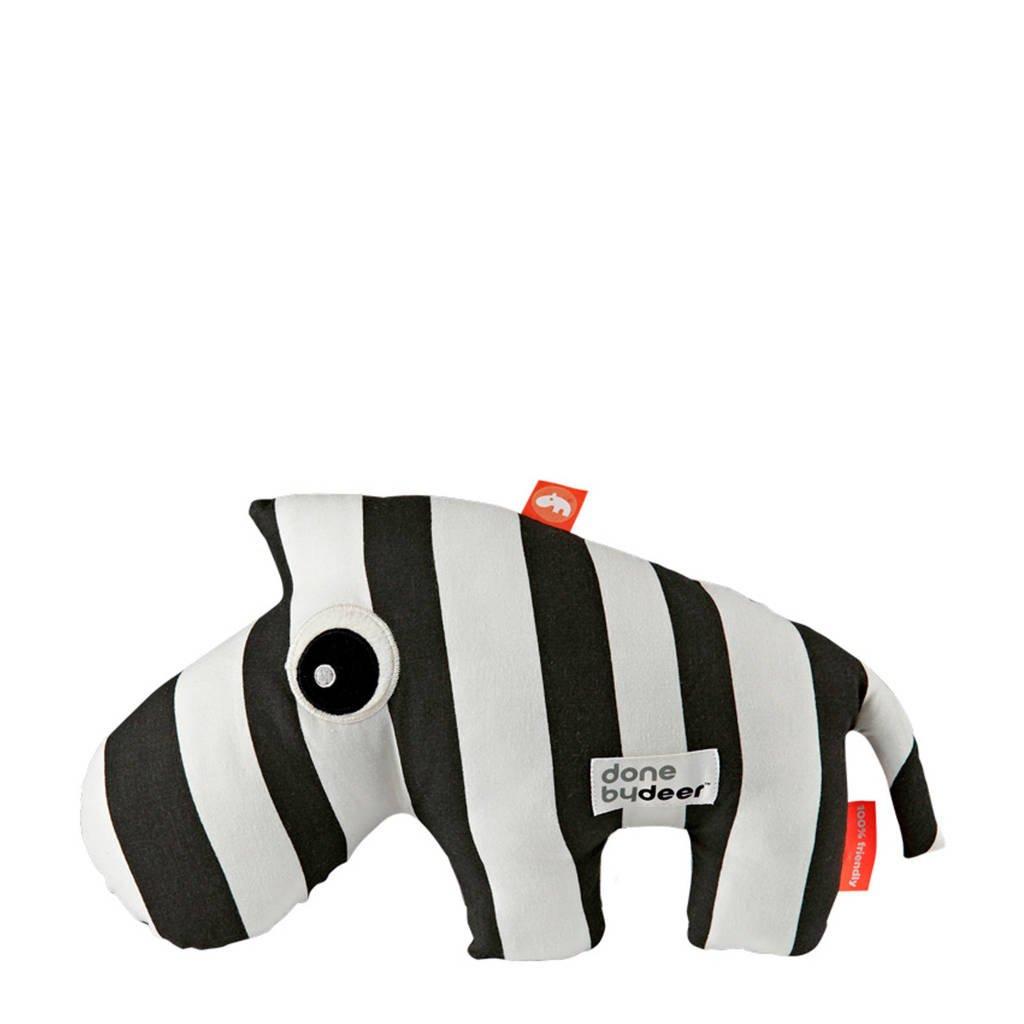 Done by Deer knuffel zebra Zebee (33 cm) knuffel 33 cm, Zwart/wit