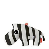 Done by Deer knuffel zebra Zebee knuffel 33 cm, Zwart/wit
