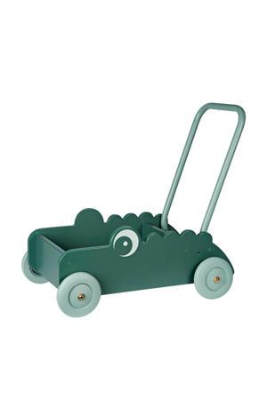 houten loopwagen croco