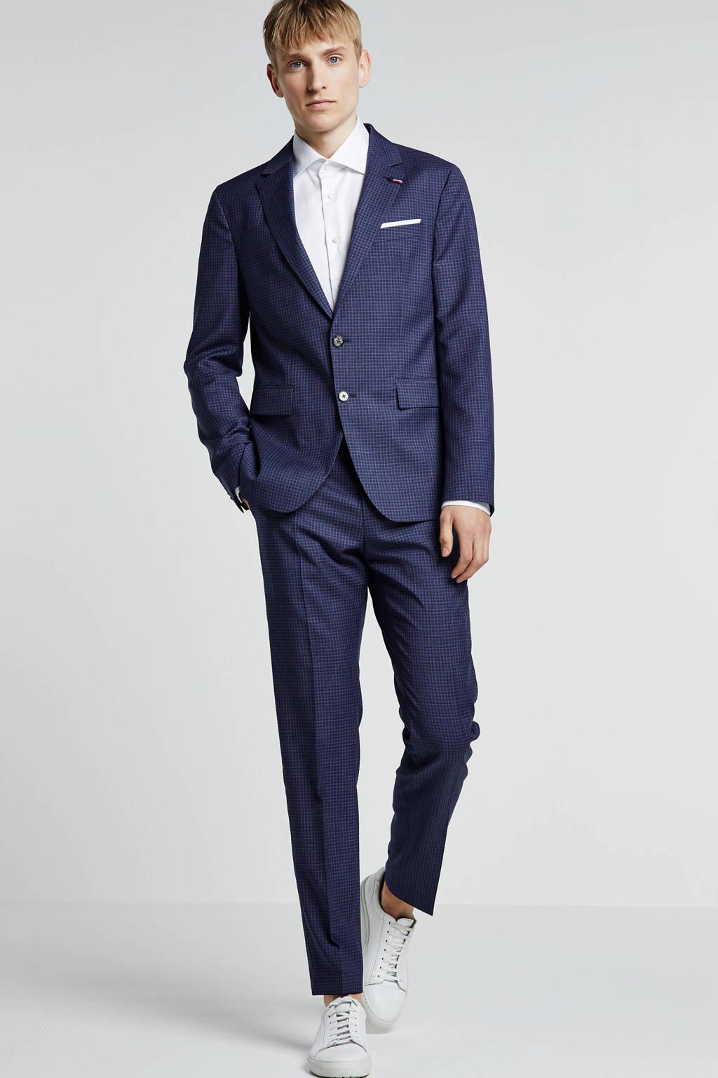 Tommy Hilfiger Tailored wollen slim fit kostuum donkerblauw, Donkerblauw