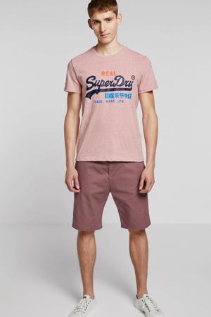 T-shirt met tekst roze