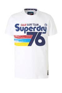Superdry T-shirt met printopdruk wit, Wit