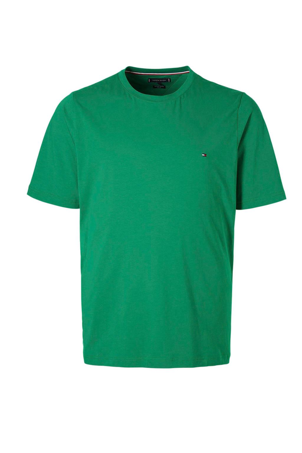Tommy Hilfiger Big & Tall +size T-shirt met logo, Groen