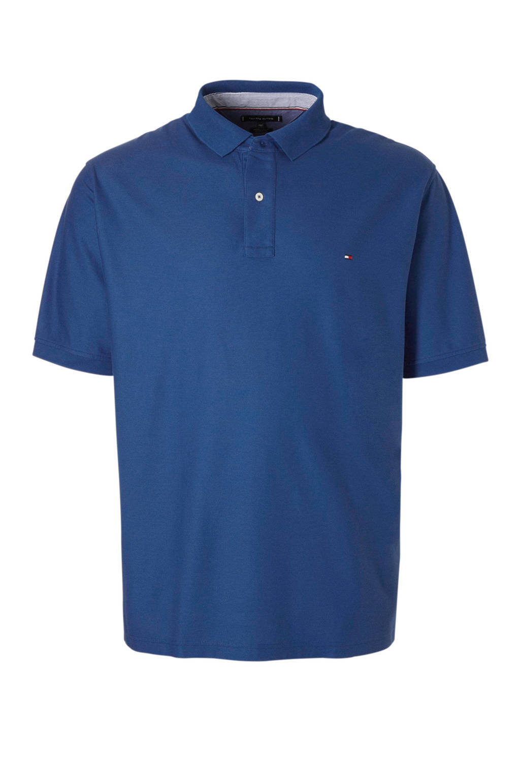 Tommy Hilfiger Big & Tall +size polo met logo, Blauw