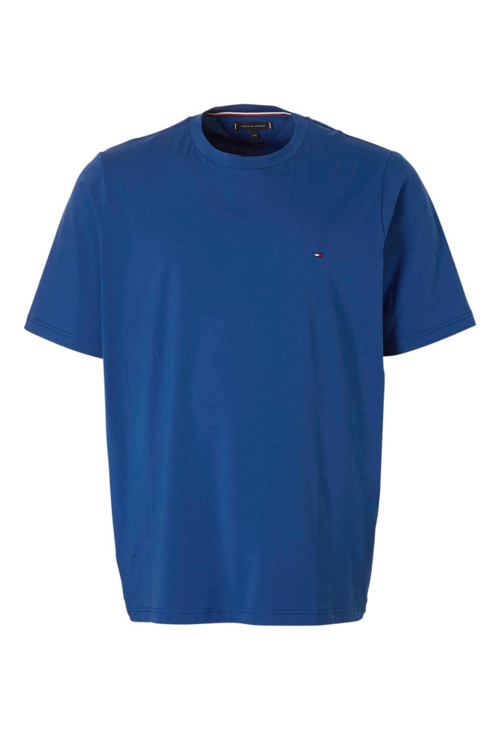 Tommy Hilfiger Big & Tall +size T-shirt met logo, Blauw