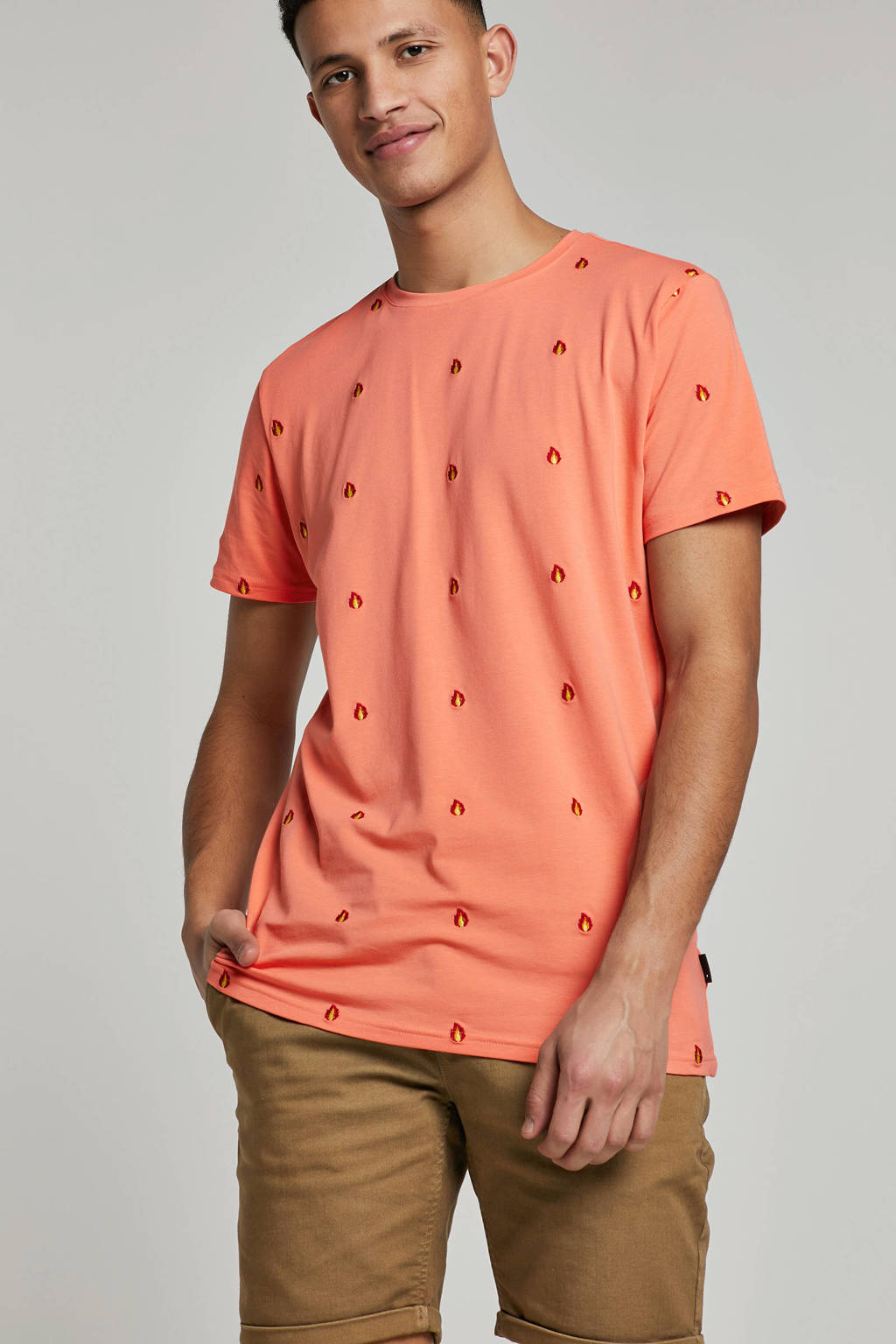 Tommy Hilfiger Big & Tall +size polo met logo, Roze