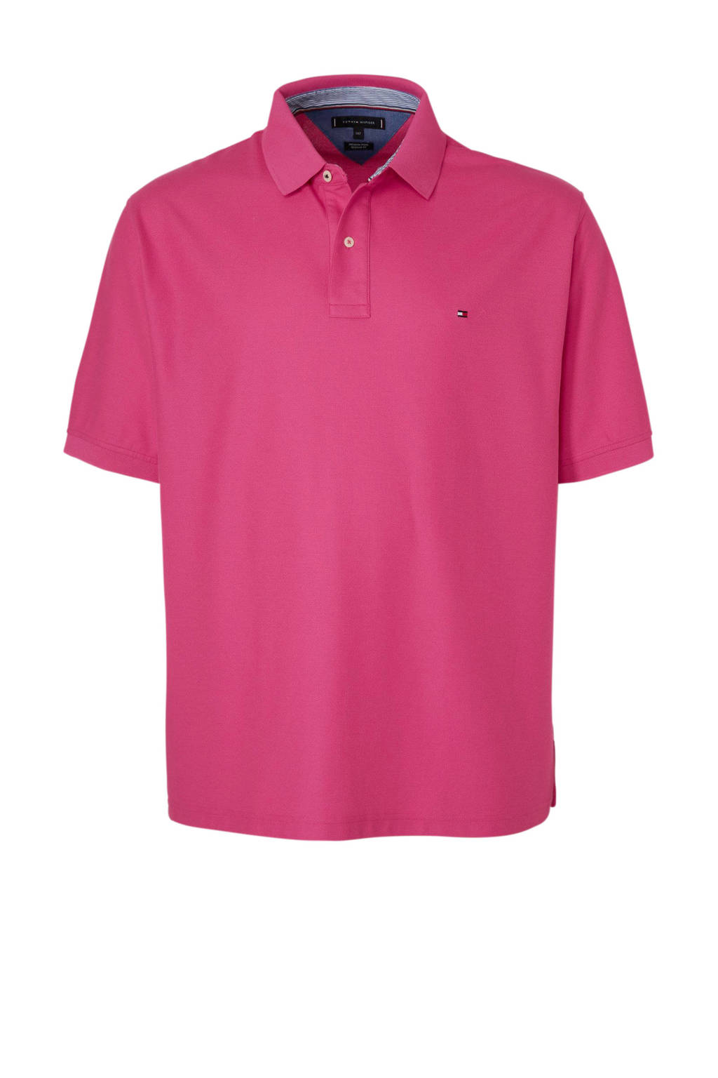 Tommy Hilfiger Big & Tall +size polo, Roze