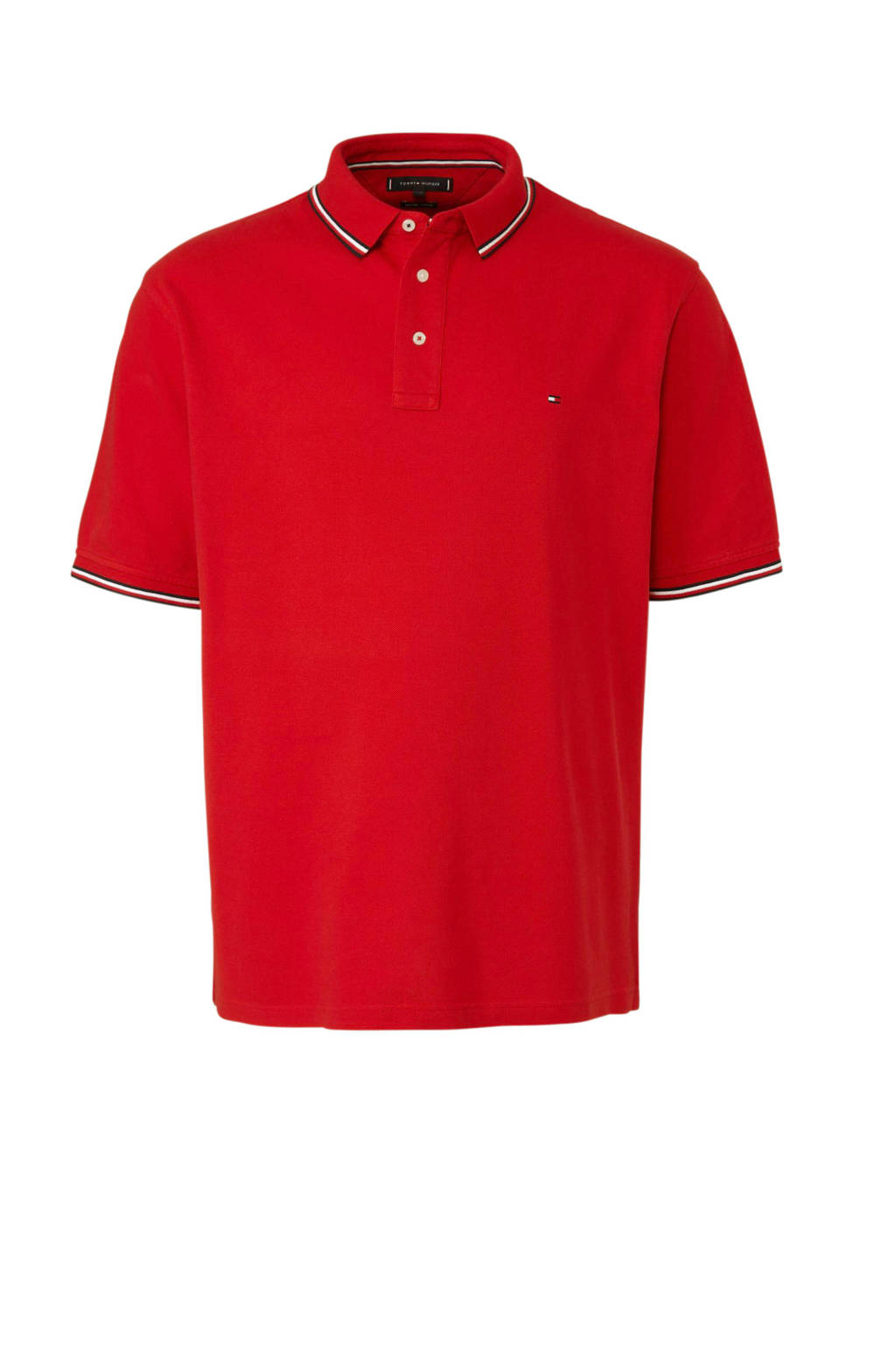 Tommy Hilfiger Big & Tall +size polo, Rood
