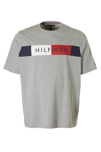 +size T-shirt met logo