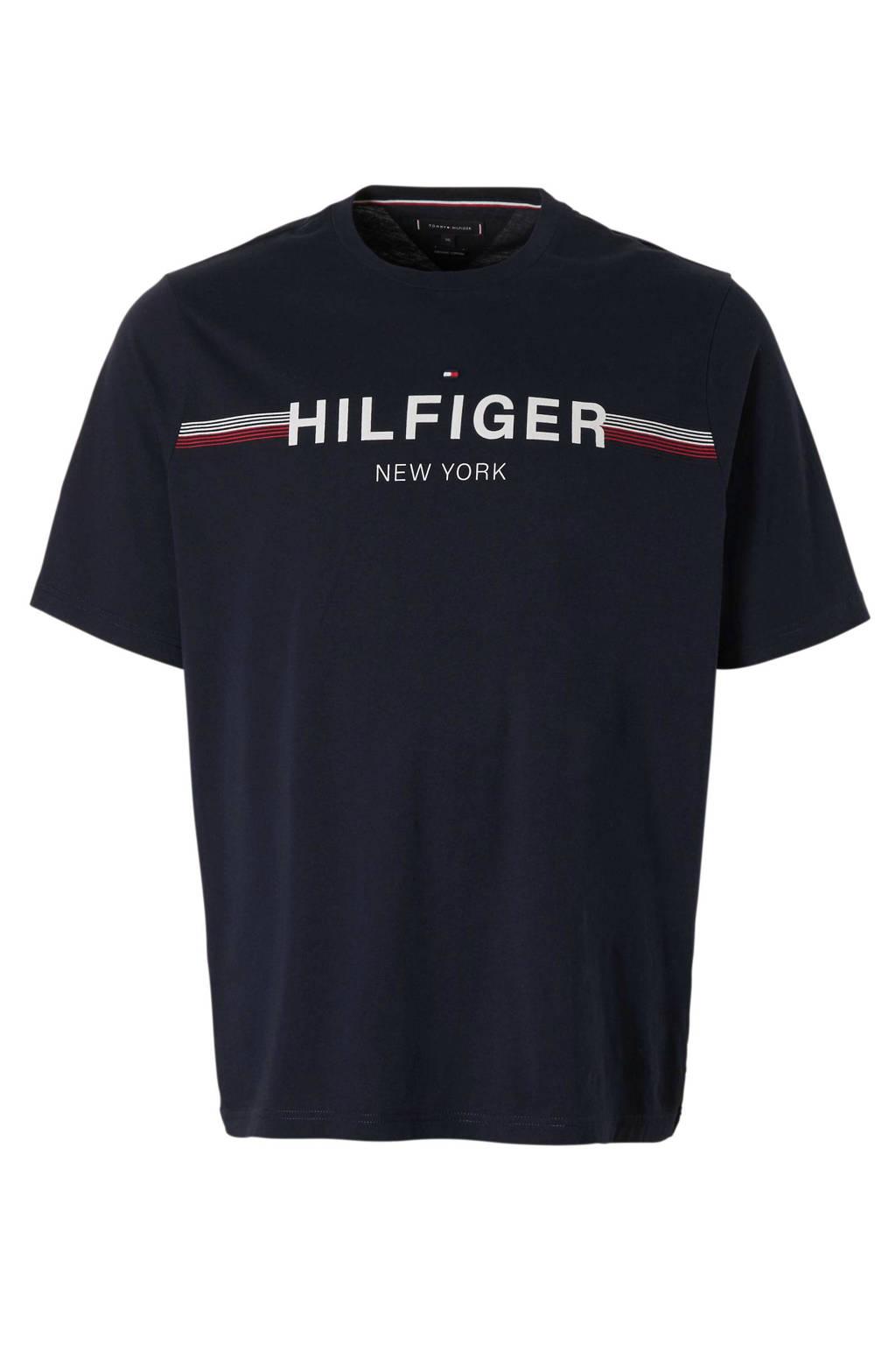 Tommy Hilfiger Big & Tall +size T-shirt zwart, Donkerblauw