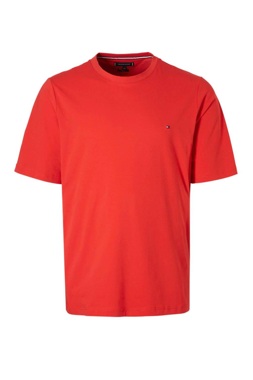 Tommy Hilfiger Big & Tall +size T-shirt met logo, Rood