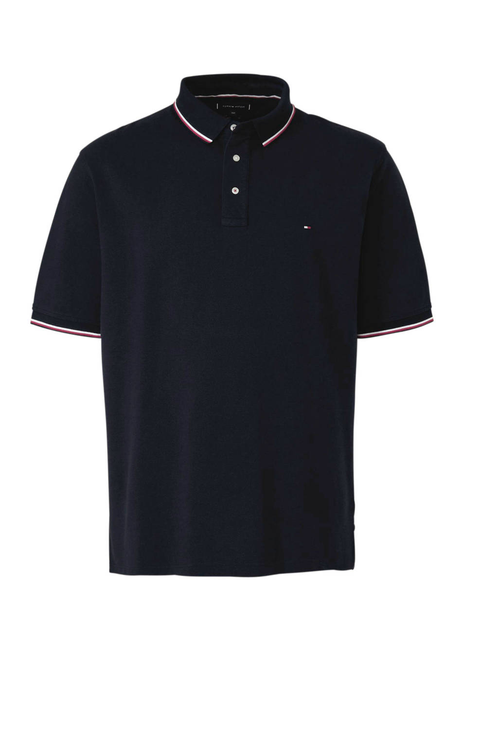 Tommy Hilfiger Big & Tall +size regular fit polo, Donkerblauw