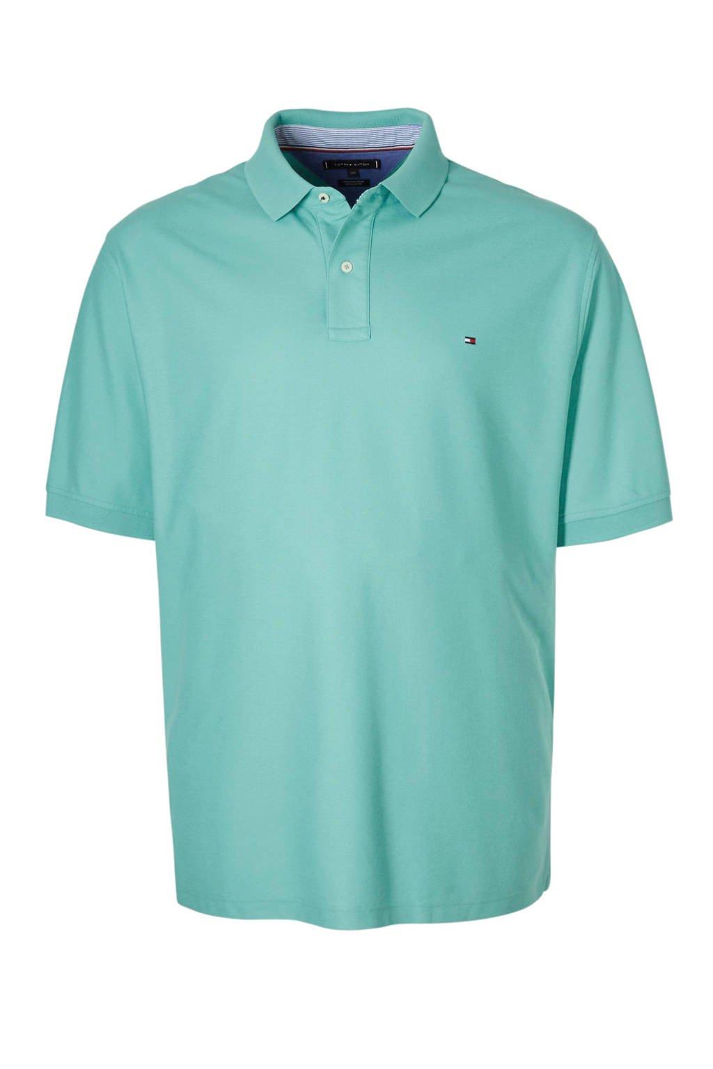 Tommy Hilfiger Big & Tall +size polo met logo, Blauw