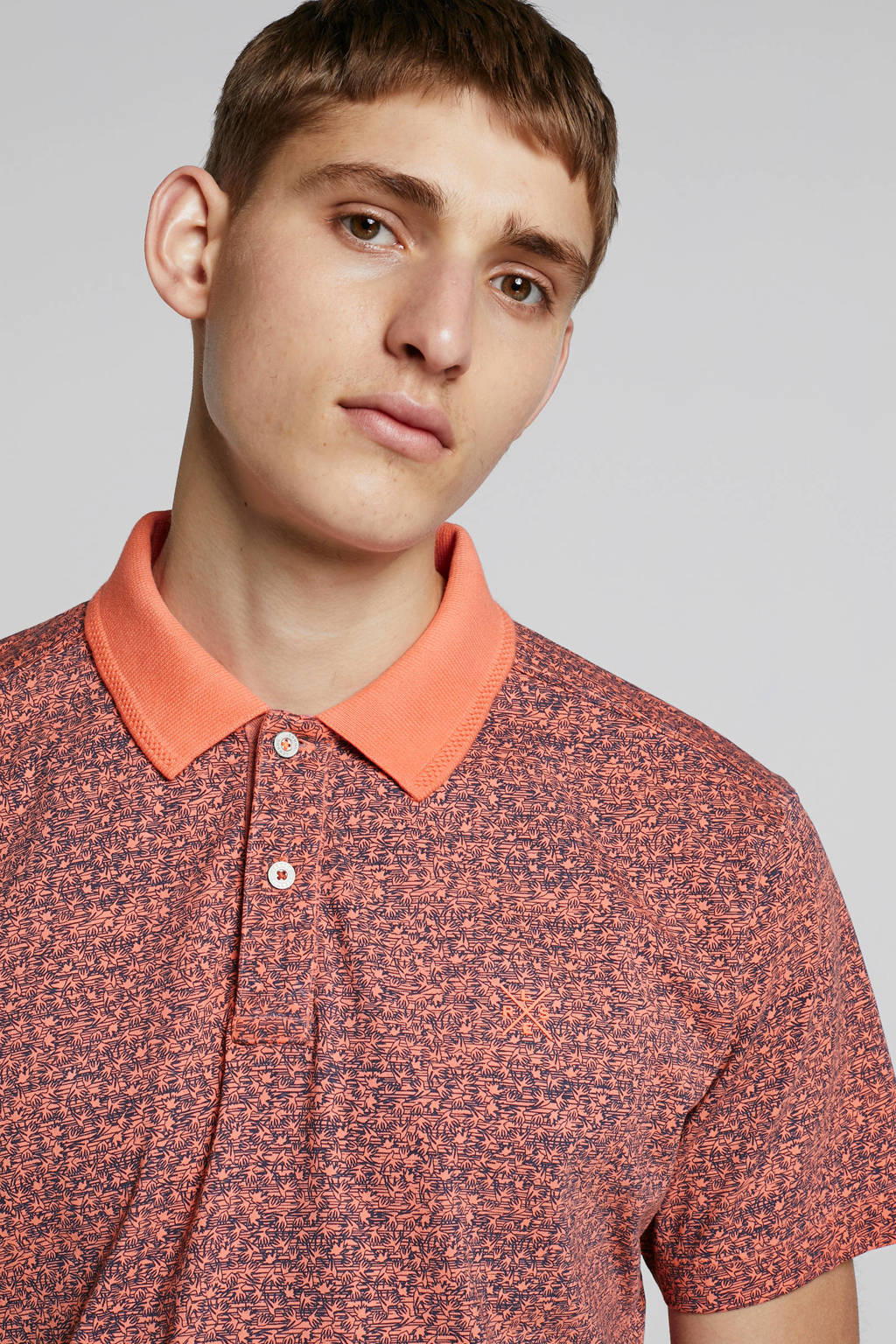 Lerros polo met all over print, Rood