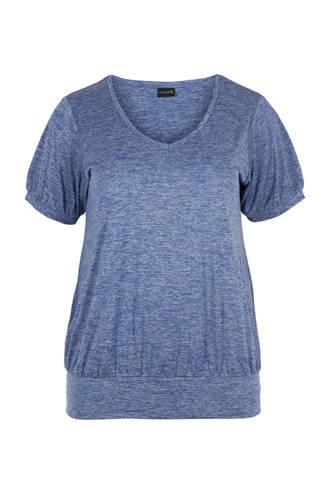 sport T-shirt blauw melange
