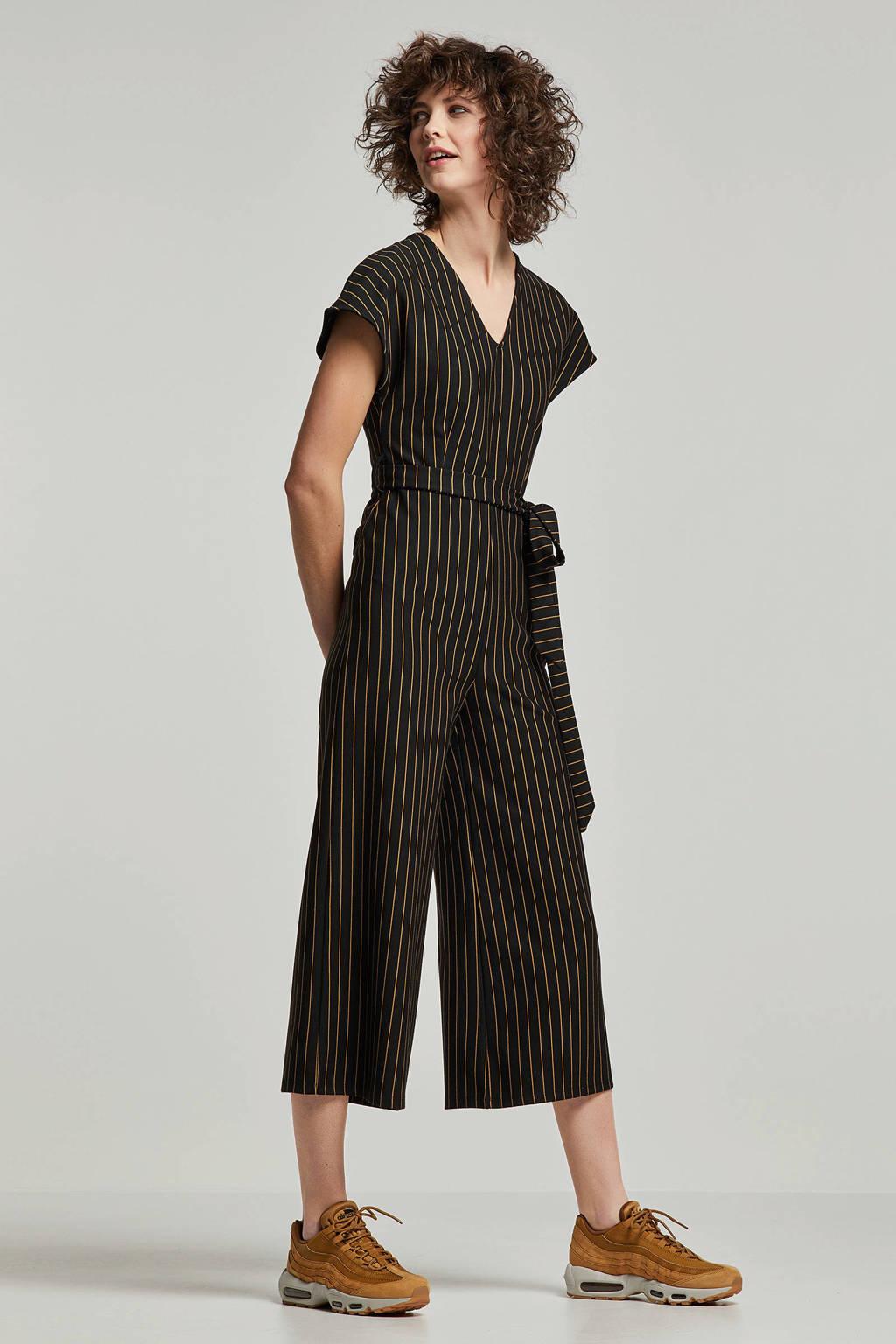 whkmp's own jumpsuit met streep, Zwart/camel