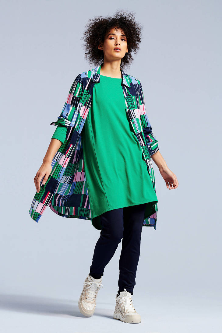 over met print all groen Didi blouse tuniek xgaZf0