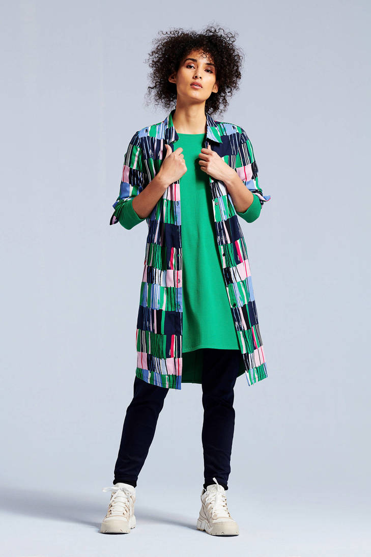 over met tuniek groen print all Didi blouse qznOIHwBx
