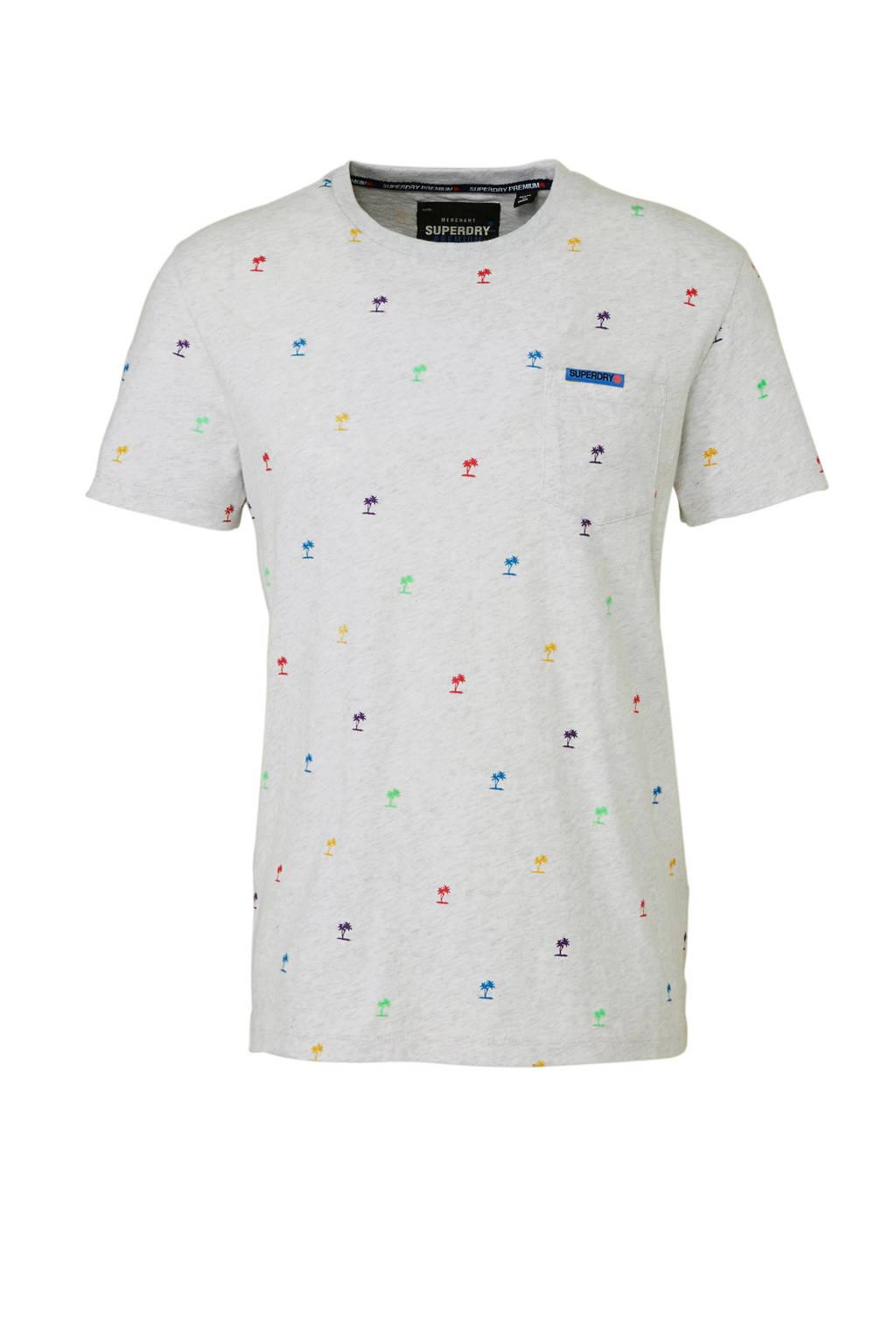 Superdry T-shirt, Ecru/multi