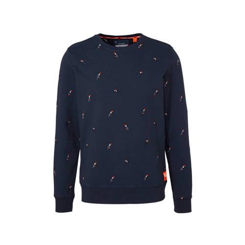 Superdry sweater met borduursels marine kopen