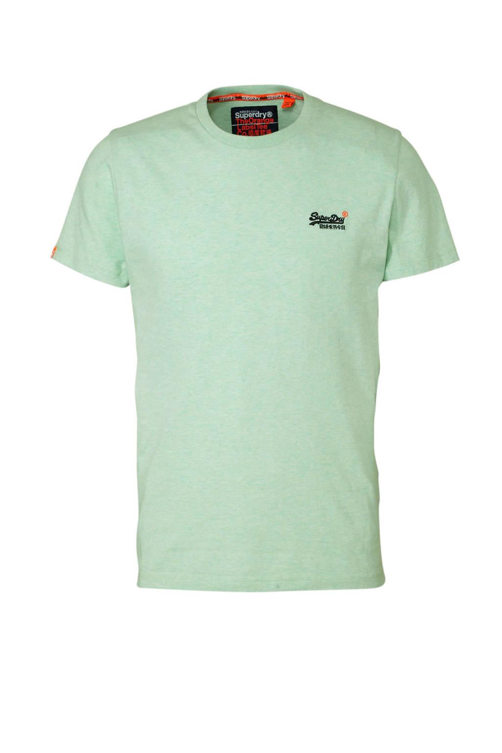 Superdry T-shirt, Lichtgroen