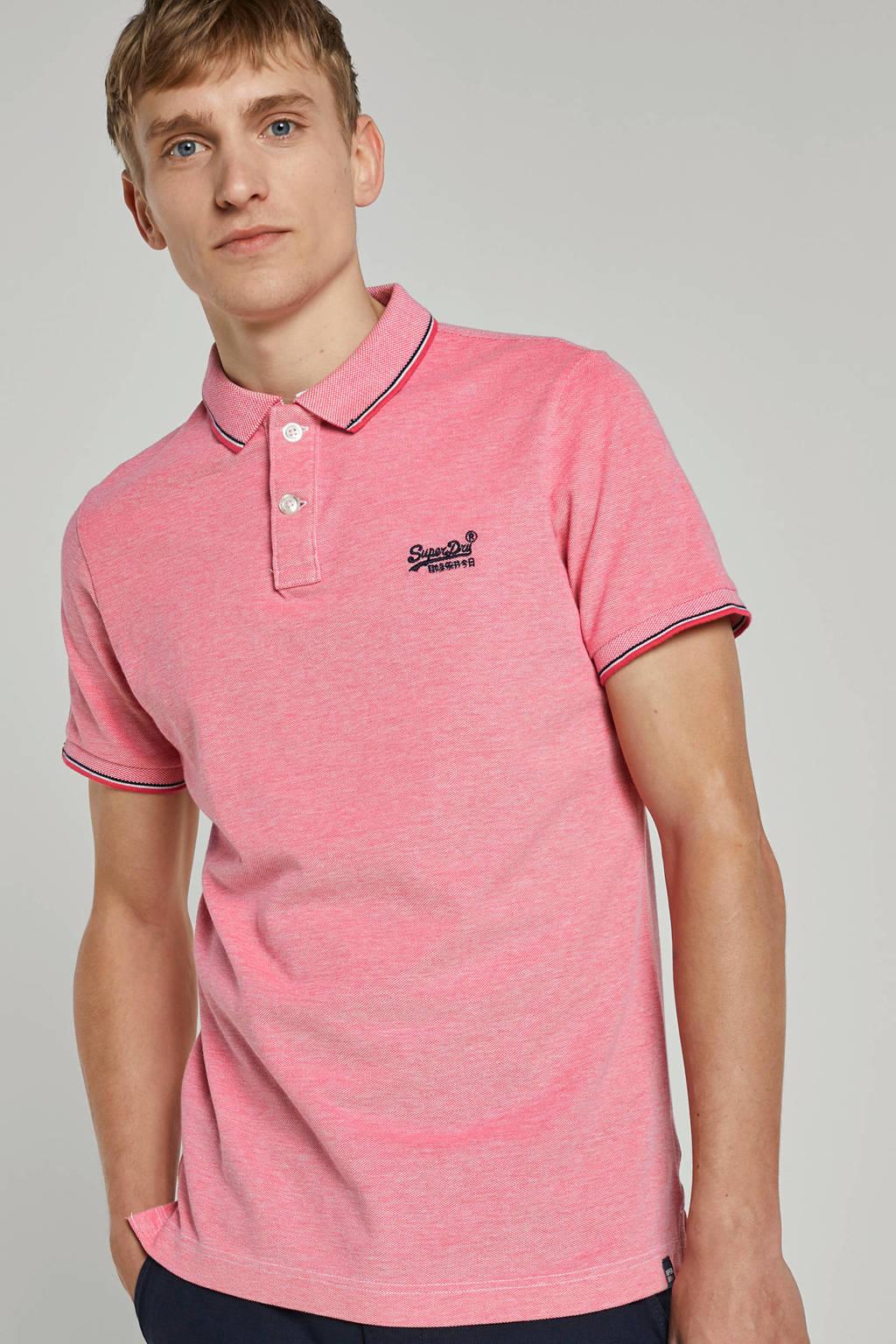 Superdry regular fit polo roze, Roze
