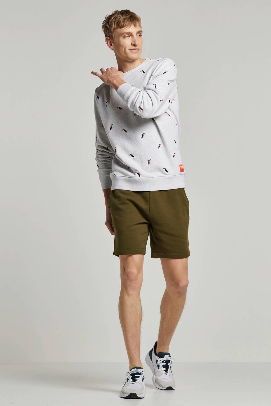 Superdry gemêleerde sweater met borduursels, Grijs