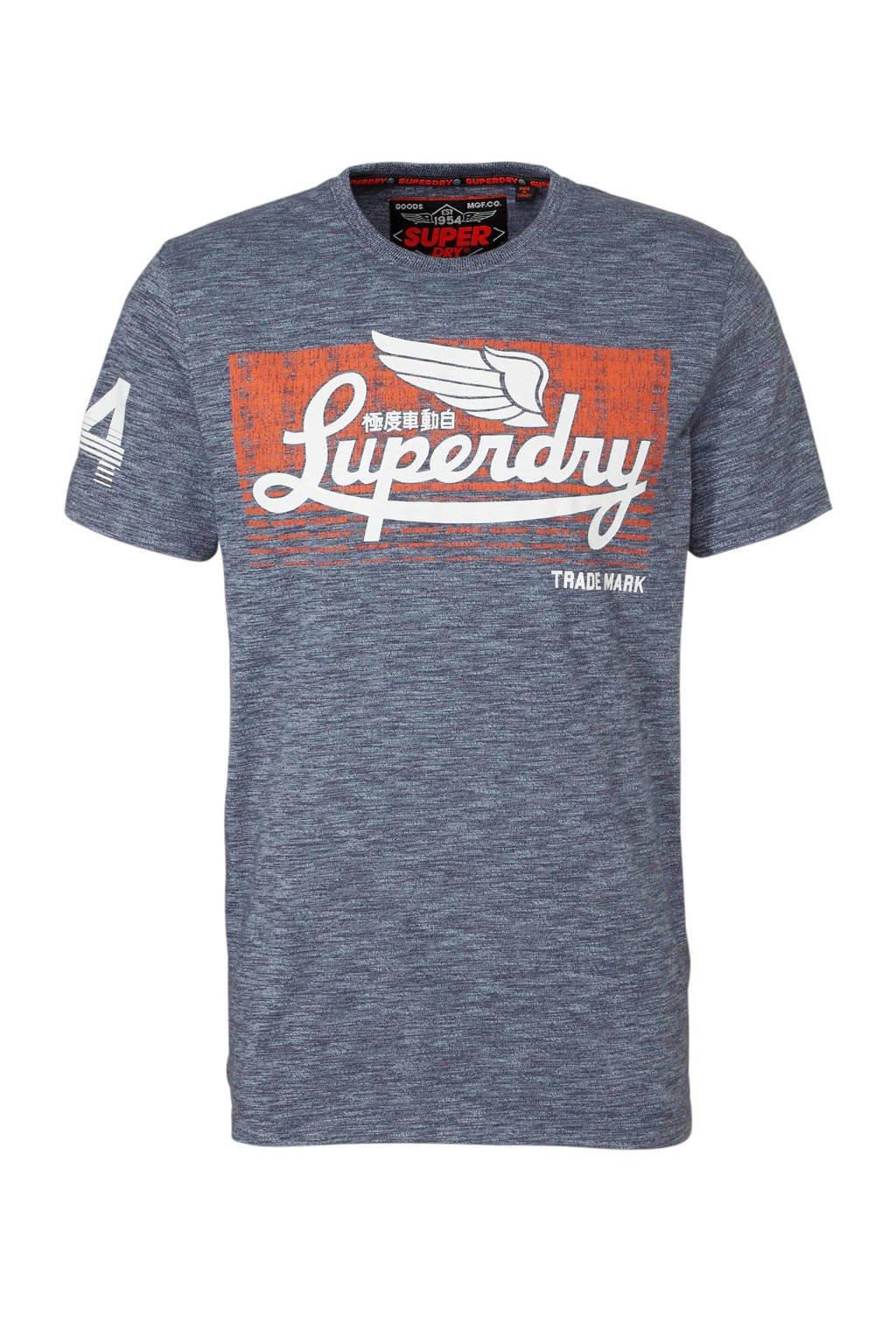 Superdry T-shirt met opdruk, Grijs