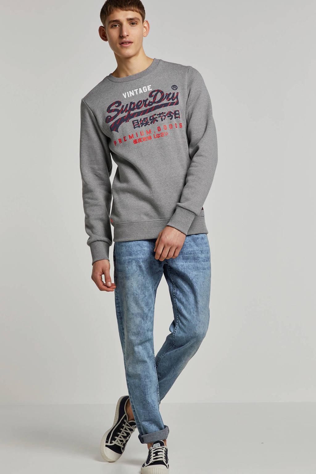 Superdry gestreepte sweater grijs, Grijs