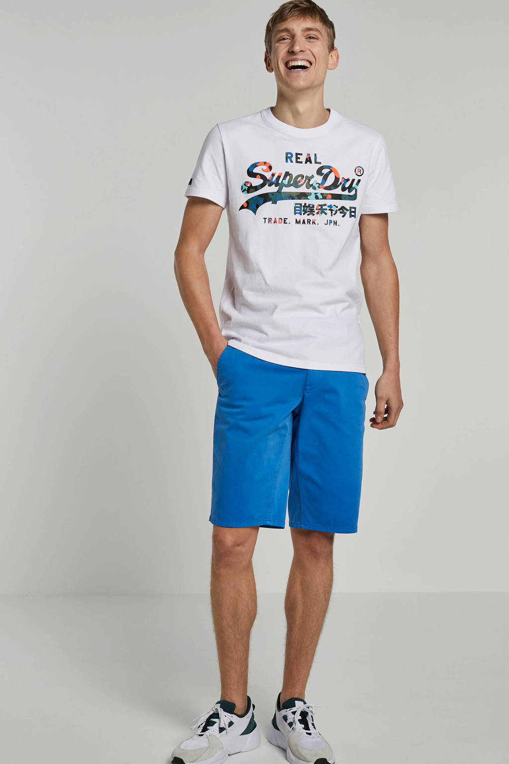 Superdry t-shirt met printopdruk, Wit/multi