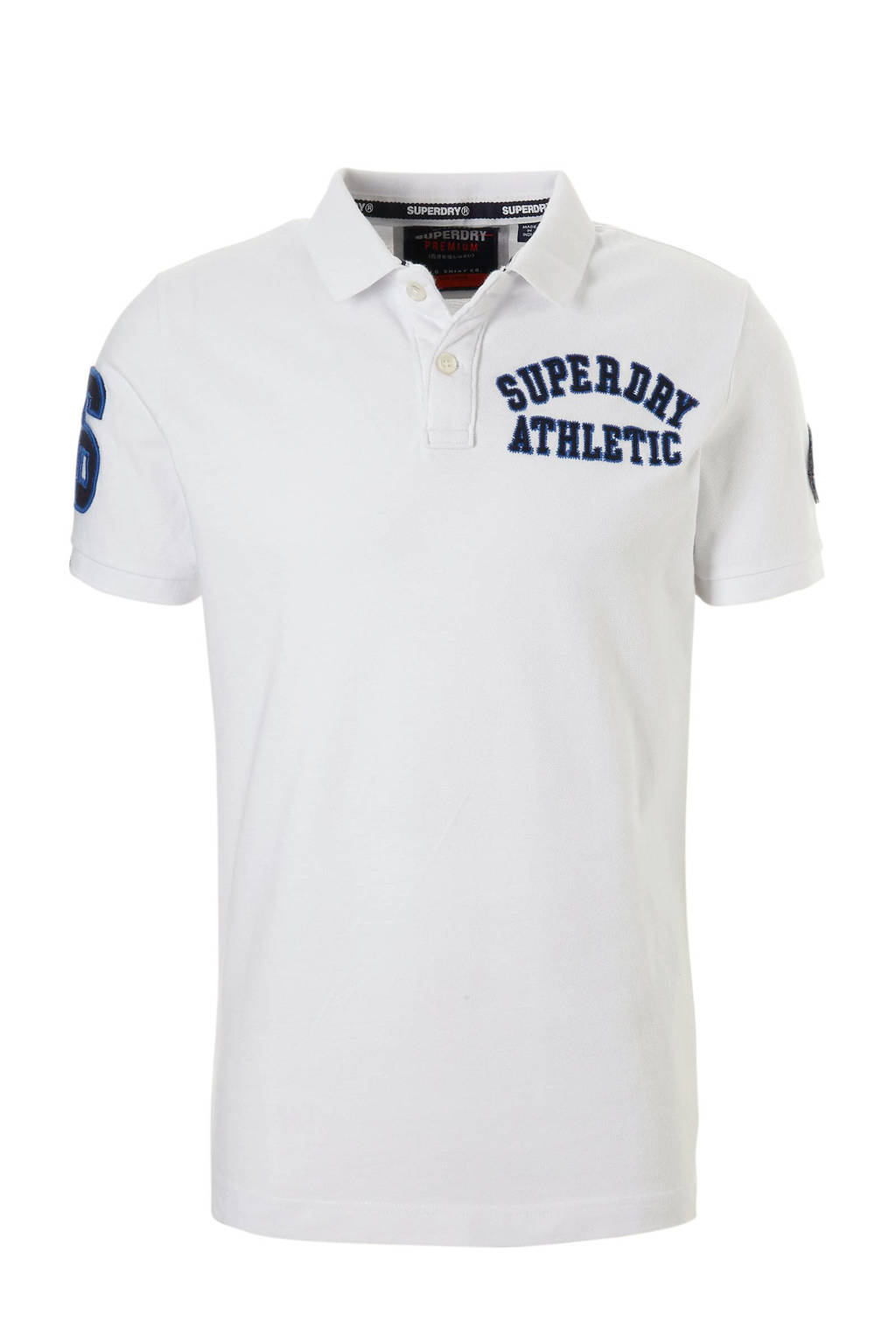 Superdry regular fit polo wit, Wit